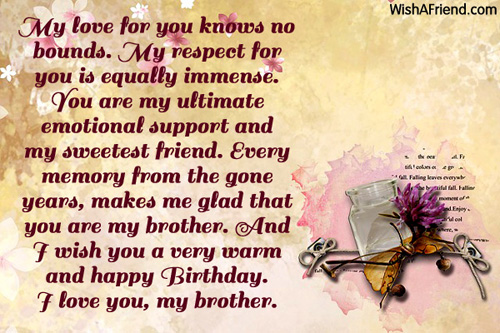 birthday quotes for elder brother from brother funpro