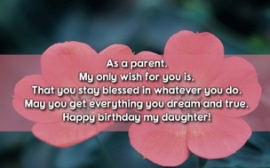 Birthday Quotes for only daughter